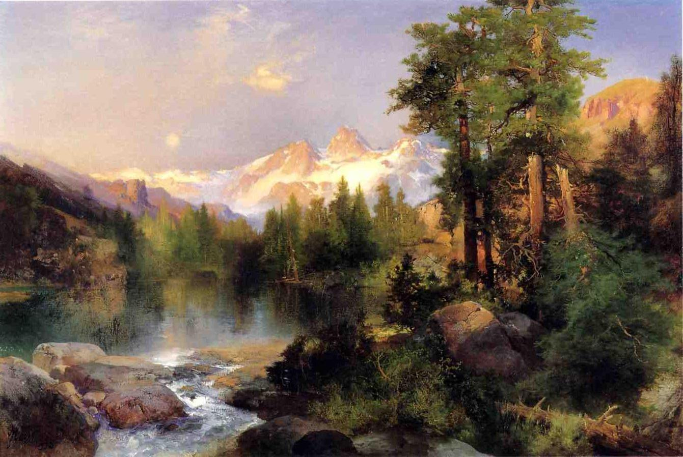 The Three Tetols 1895 | Thomas Moran | oil painting