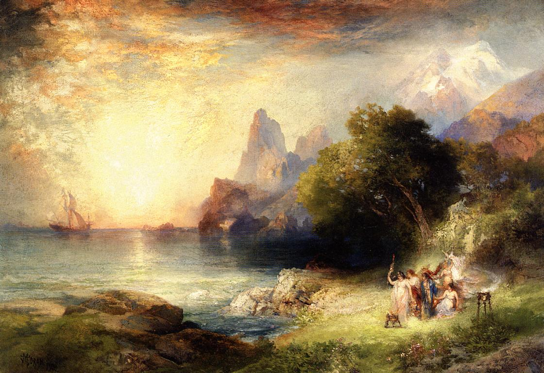 Ulysses and the Sirens 1900 | Thomas Moran | oil painting
