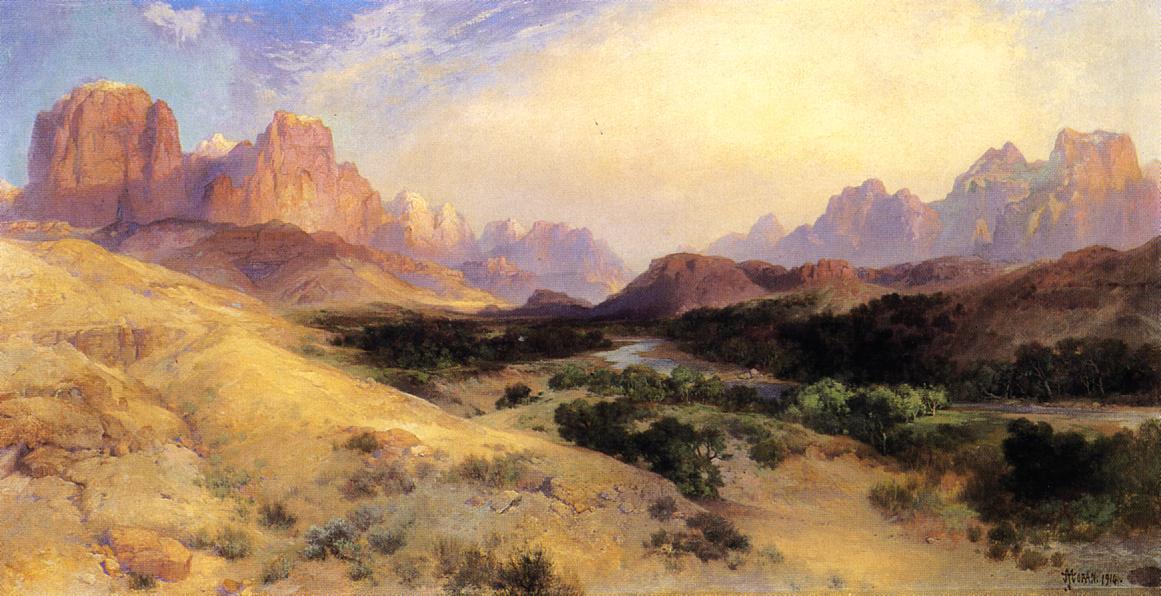 Zion Valley South Utah 1916 | Thomas Moran | oil painting