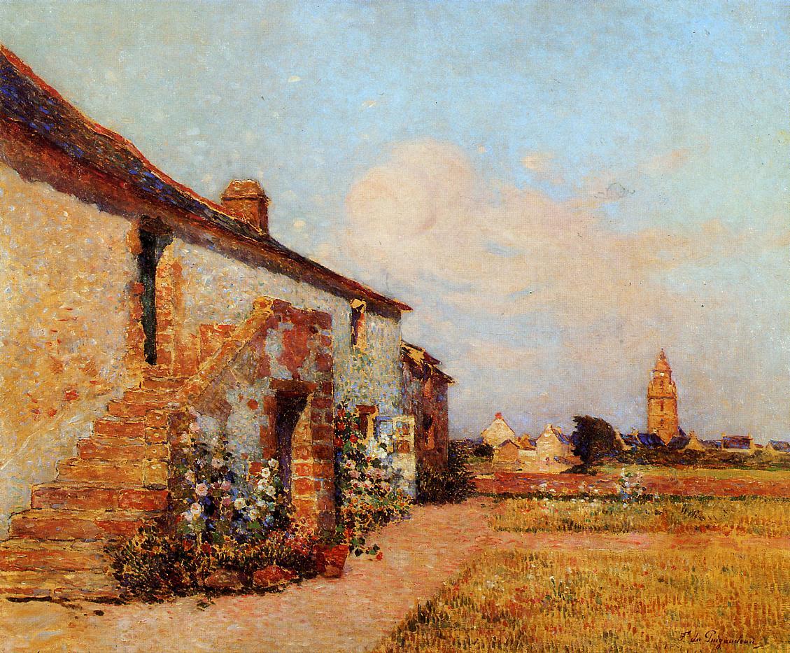 Bourg-de-Batz Brittany | Ferdindand Puigaudeau | oil painting