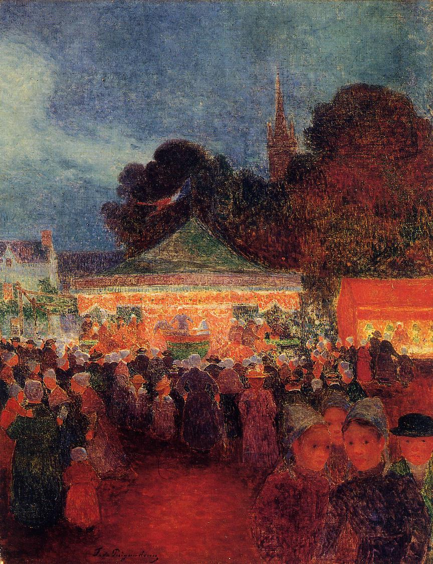 Carnival at Night in Croisic 1895-1898 | Ferdindand Puigaudeau | oil painting
