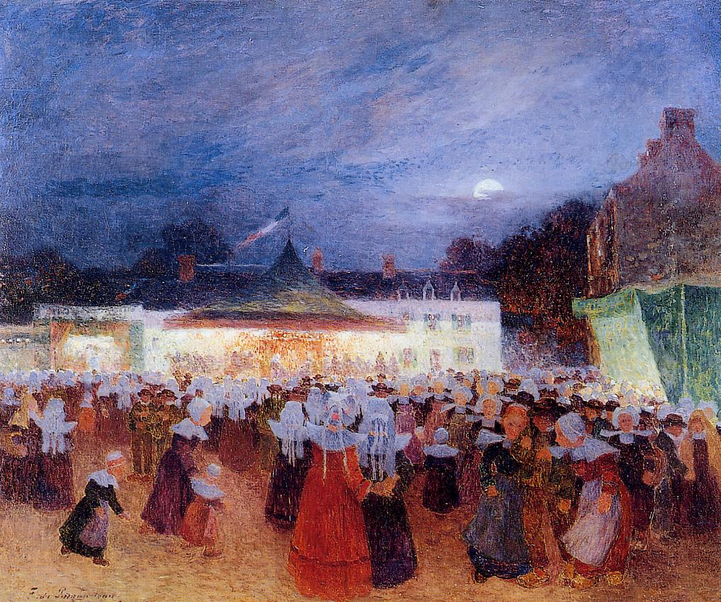 Carnival at Night 1895-1898 | Ferdindand Puigaudeau | oil painting