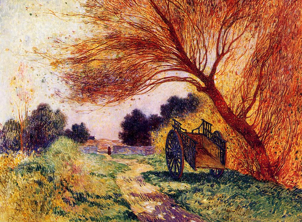 Cart by the Path 1907-1915 | Ferdindand Puigaudeau | oil painting