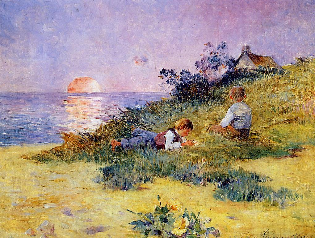 Children on a Dune 1890 | Ferdindand Puigaudeau | oil painting