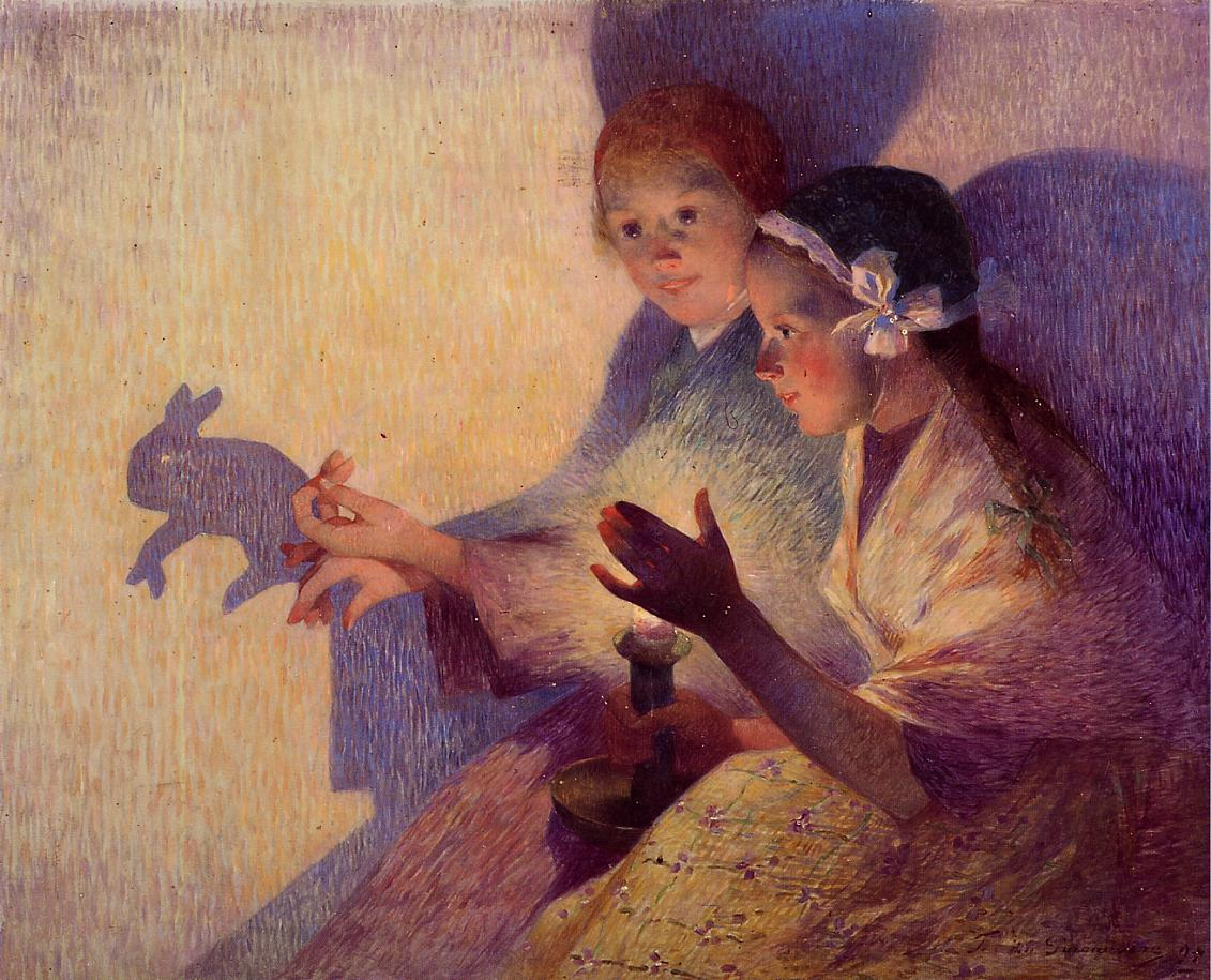 Chinese Shadows the Rabbit 1895 | Ferdindand Puigaudeau | oil painting