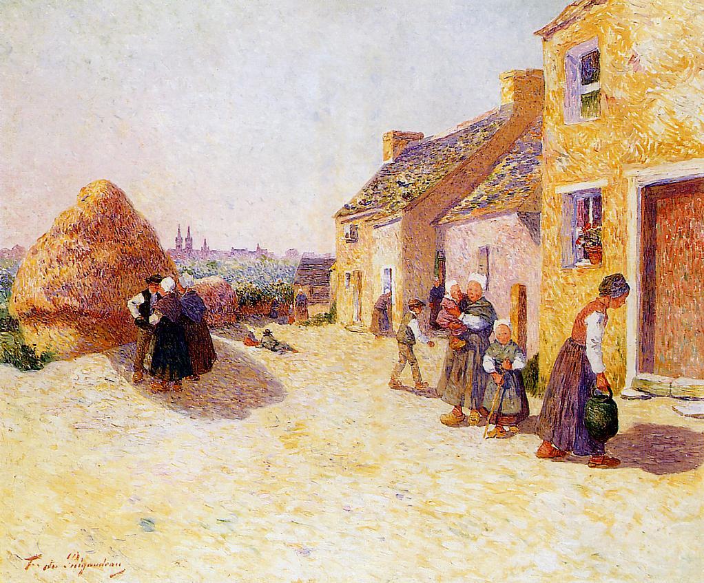 Farmyard 1907-1915 | Ferdindand Puigaudeau | oil painting