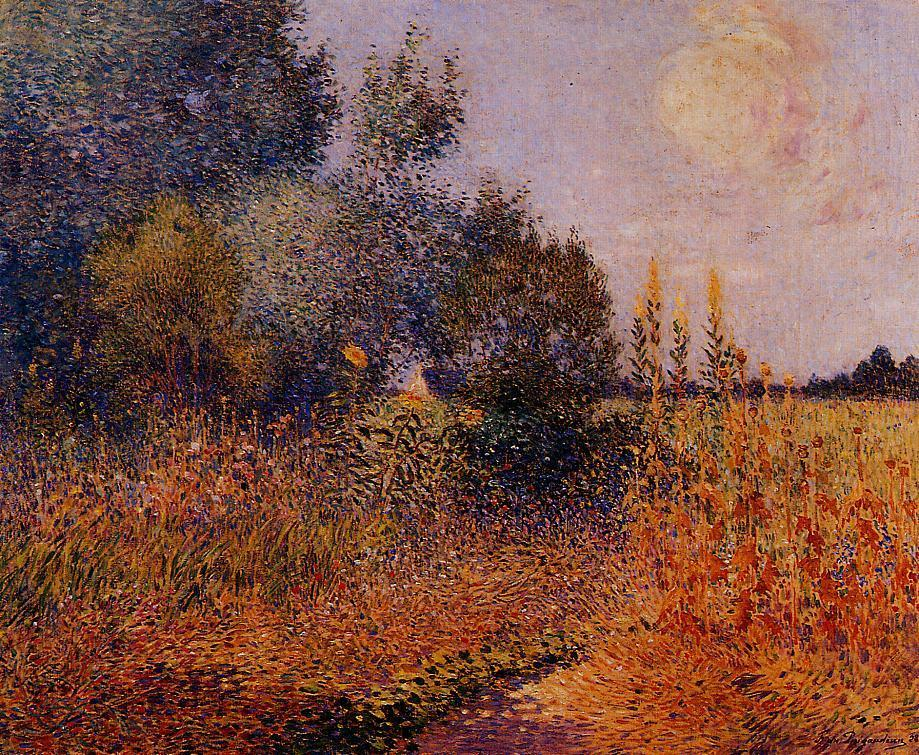 Flower Garden at Kervaudu 1928 | Ferdindand Puigaudeau | oil painting