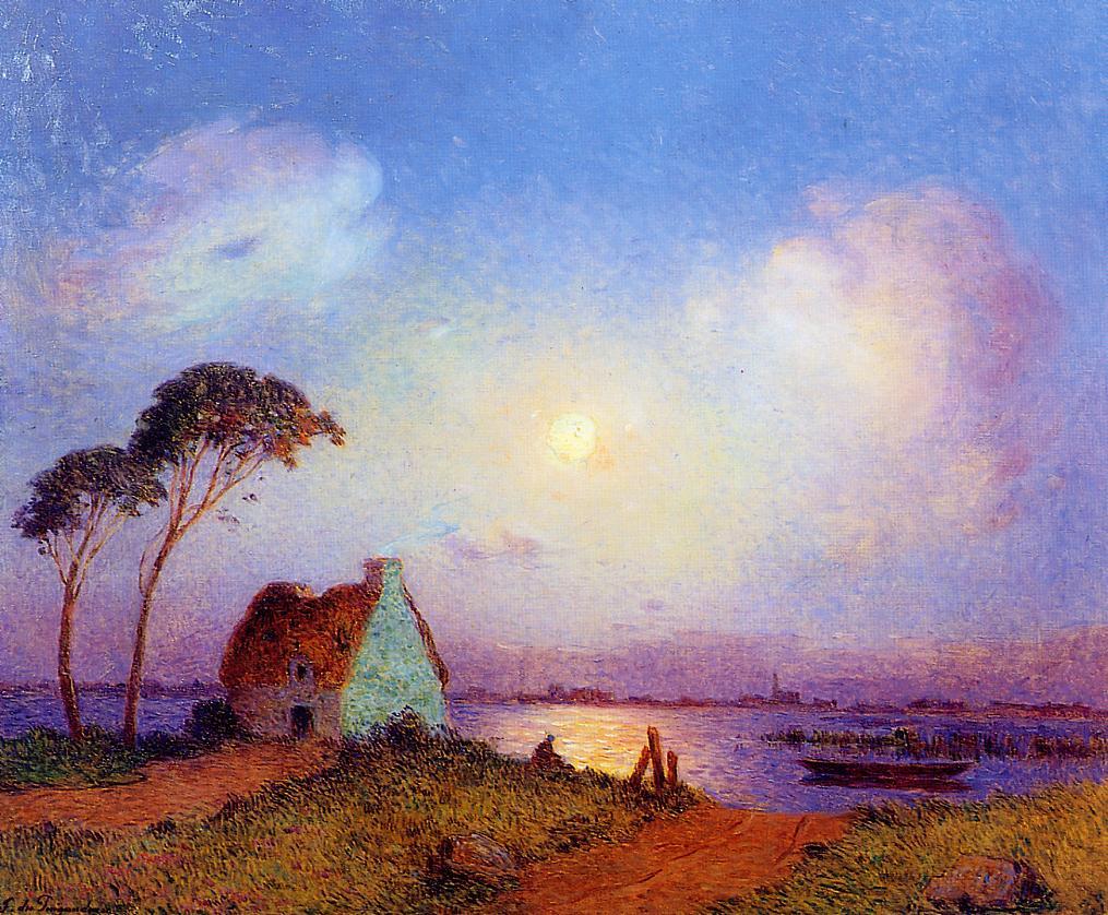 Grande Briere Landscape 1924-1926 | Ferdindand Puigaudeau | oil painting