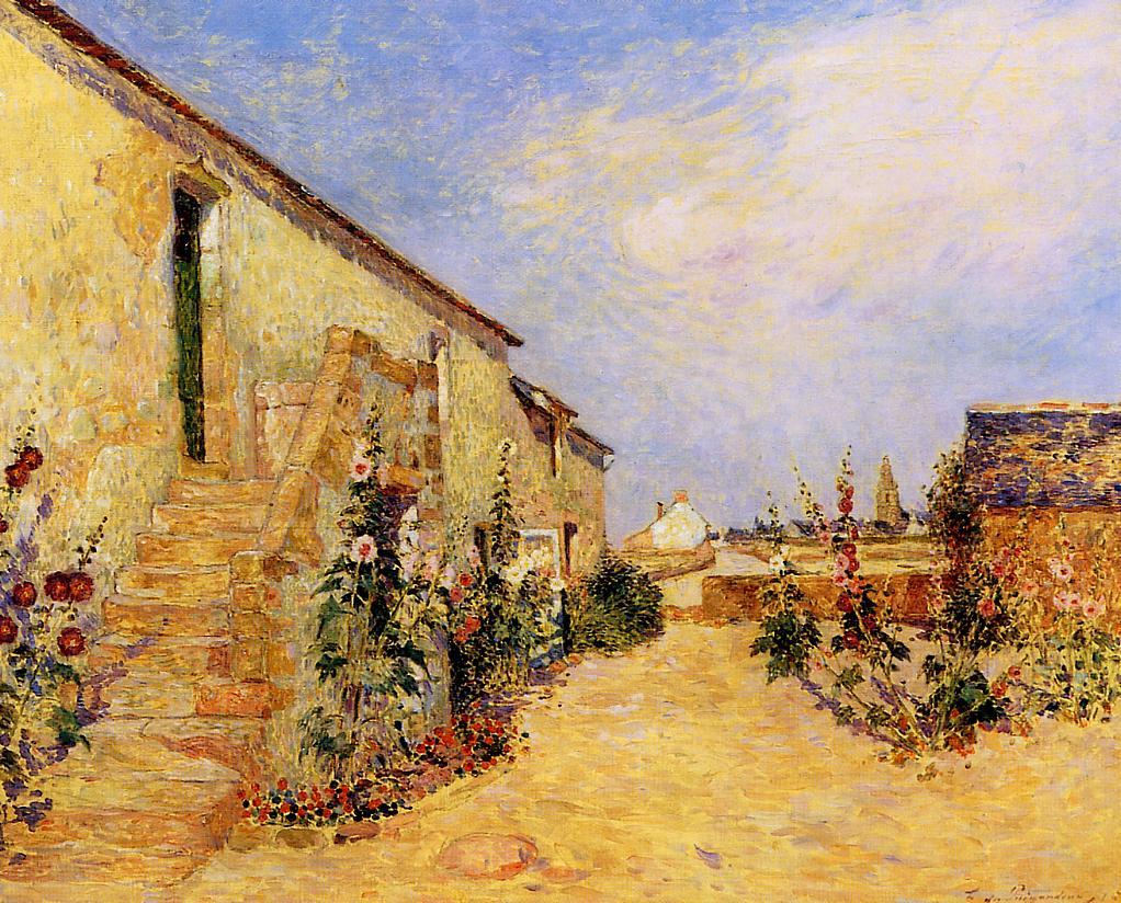 Kervaudu Garden Climbing Roses 1915 | Ferdindand Puigaudeau | oil painting