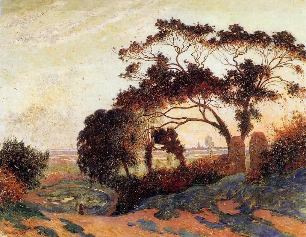 Landscape Hills of Guerande 1915 | Ferdindand Puigaudeau | oil painting