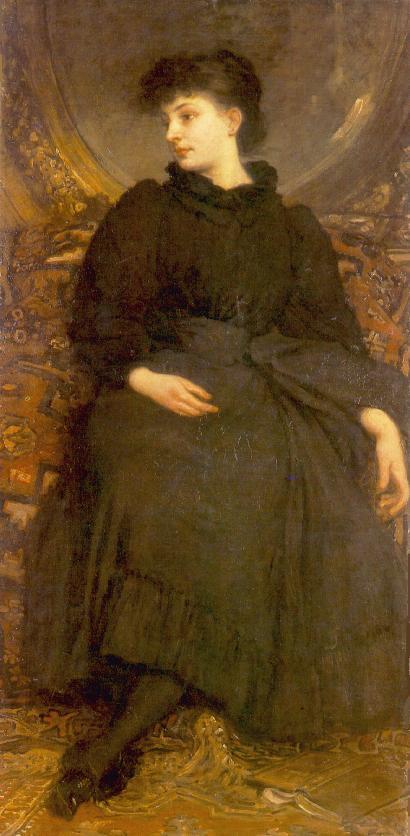 Kornelia Lotz Dressed in Black 1895 | Karoly Lotz | oil painting