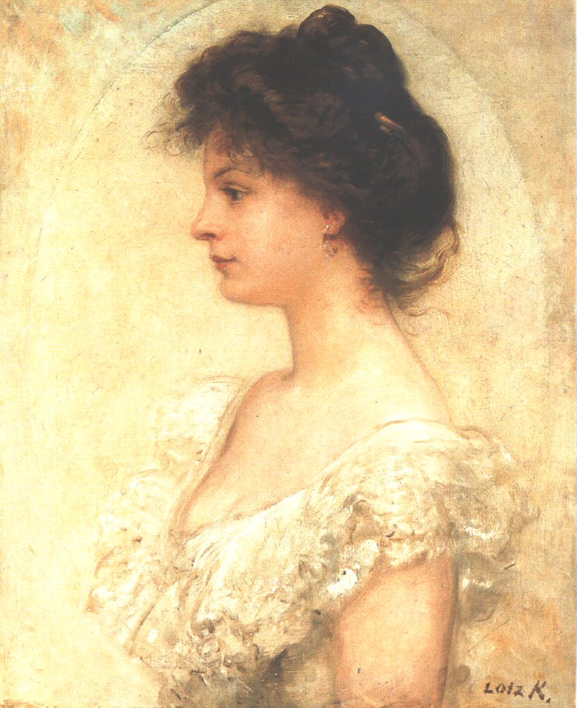 Portrait of Kornelia Lotz 1890s | Karoly Lotz | oil painting