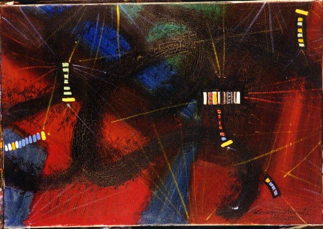 Radar 1965   Tamas Lossonczy   oil painting