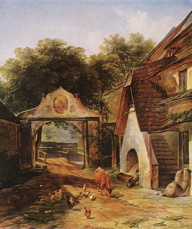 Farmstead 1843   Lajos Karoly Libay   oil painting
