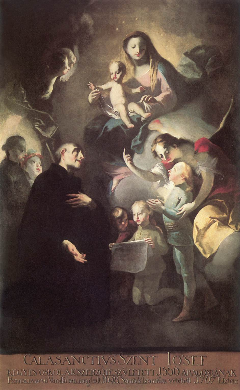 Saint Joseph Calasantius before the Virgin 1767 | Lvo Felix Leicher | oil painting