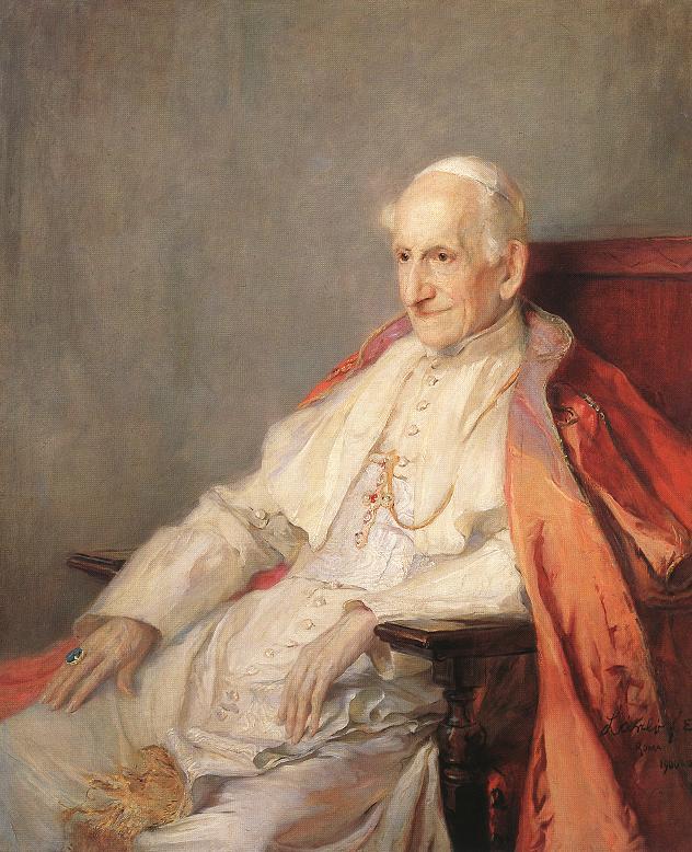 Portrait of Pope Leo XIII 1900 | Elek Fulop Laszlo | oil painting