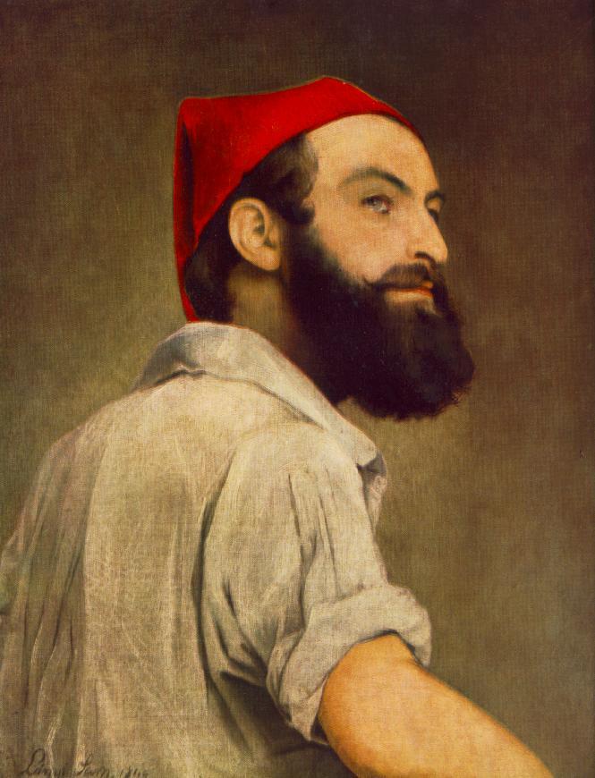 Self-portrait 1840 | Samuel Lanyi | oil painting