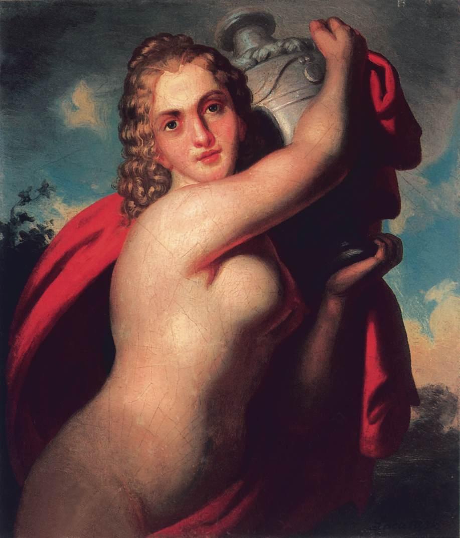 Bathing Woman (Hebe) | Demeter Laccataris | oil painting
