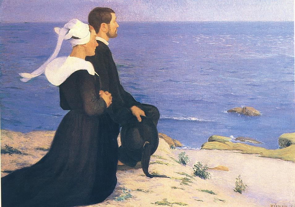 At the Seashore in Britanny 1898 | Lajos Kunffy | oil painting