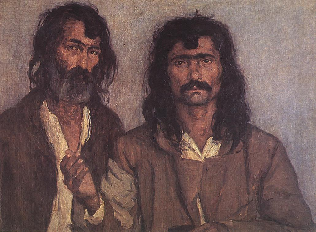 Two Gipsies 1910 | Lajos Kunffy | oil painting