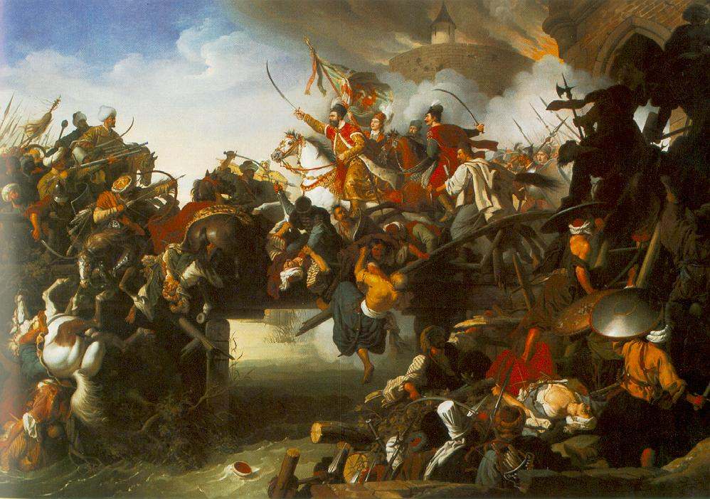 The Attack of Zrinyi 1825 | Peter Johann Krafft | oil painting