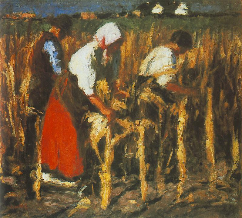Corn Huskers 1917 | Jozsef Koszta | oil painting