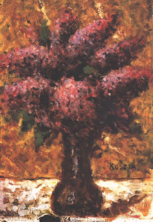 Still life with Lilacs 1930s | Jozsef Koszta | oil painting