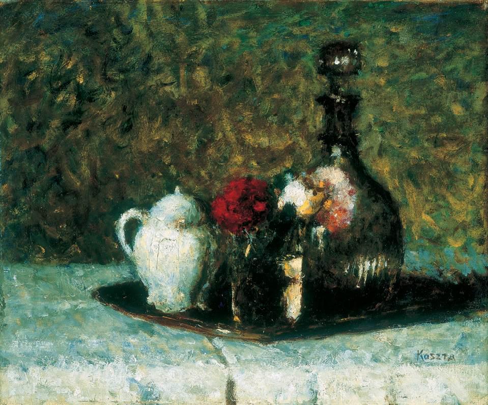 Still life with Carnations | Jozsef Koszta | oil painting