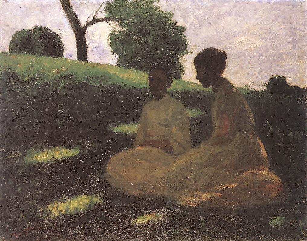 On the Hill (Outdoors) 1902 | Jozsef Koszta | oil painting