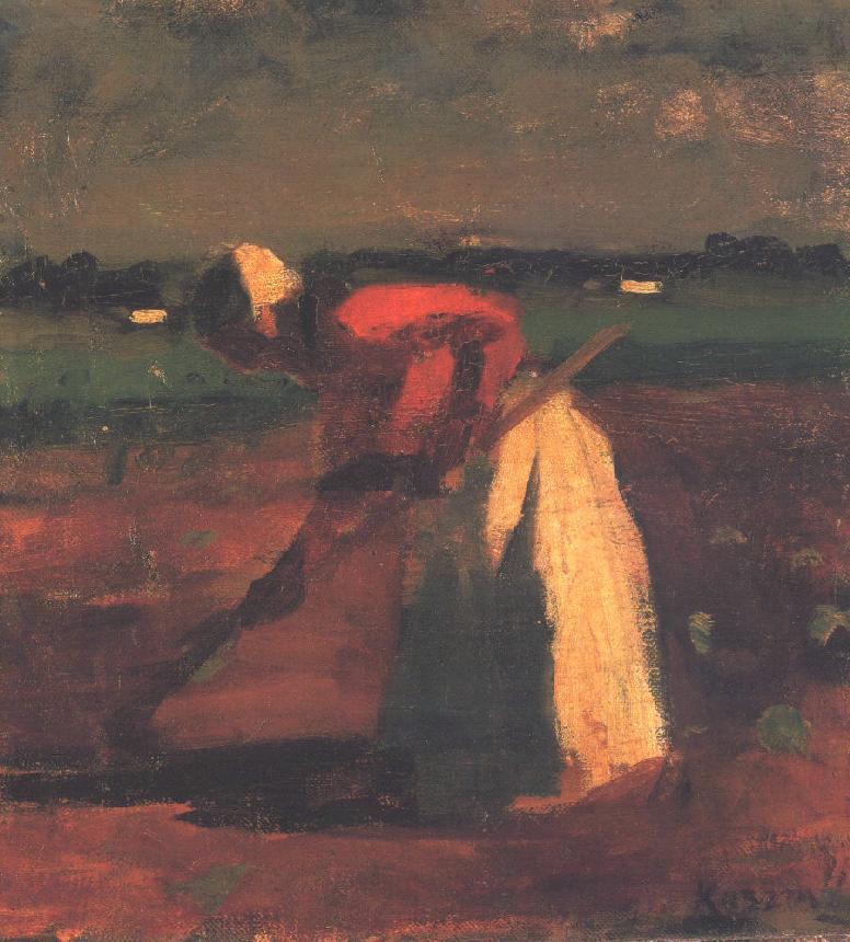 Hoeing Woman 1906 | Jozsef Koszta | oil painting
