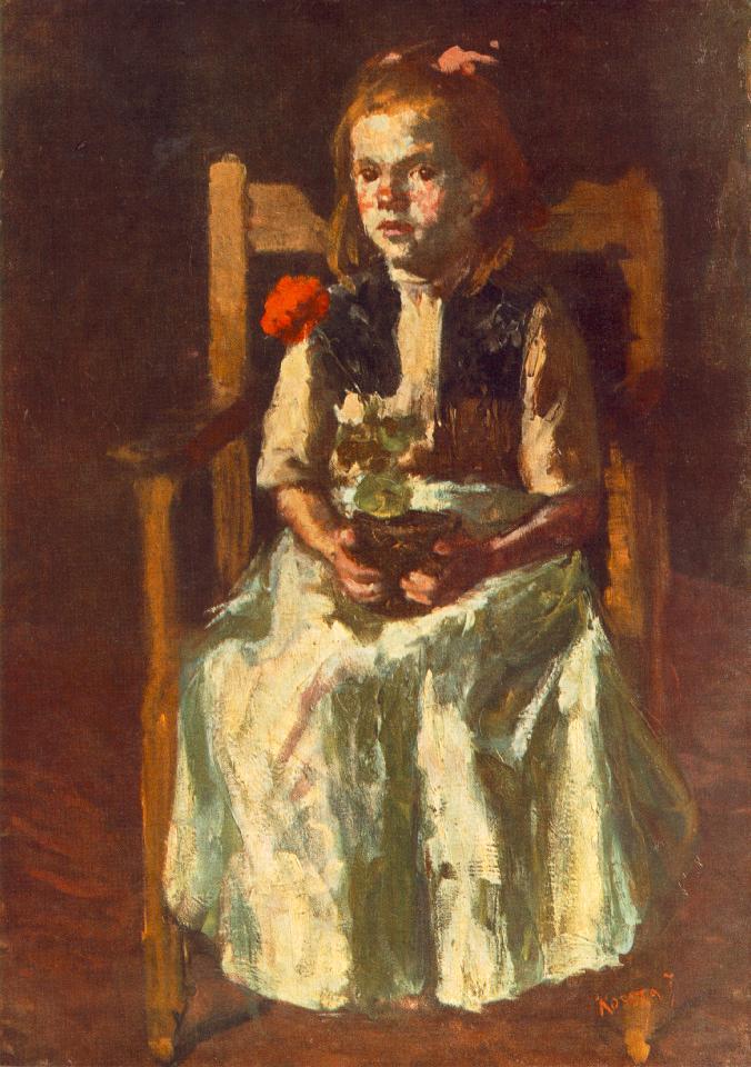Girl with Geranium 1917 | Jozsef Koszta | oil painting