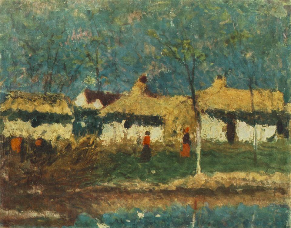 Farm 1920 | Jozsef Koszta | oil painting