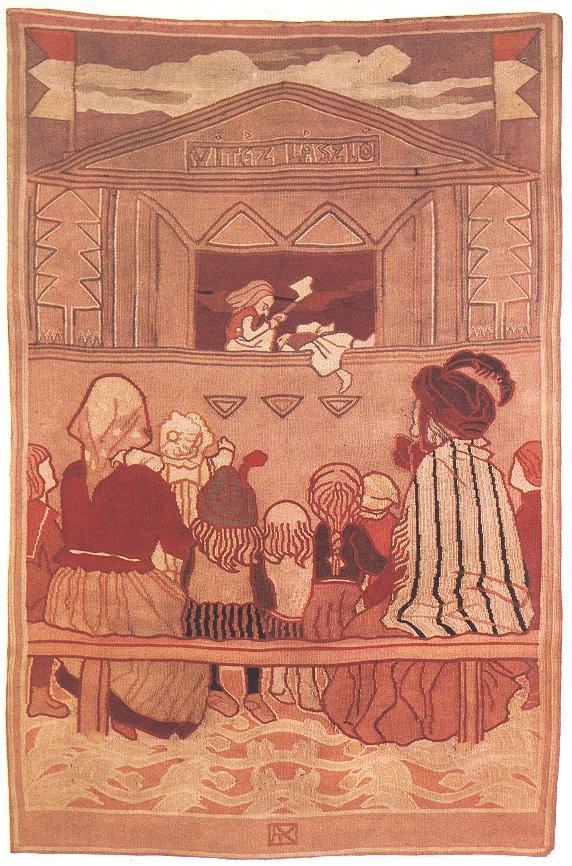 Puppet Theatre 1907   Aladar Kriesch Korosfoi   oil painting