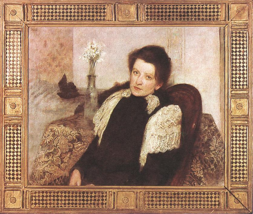 Portrait of the Artist's Wife 1896 | Aladar Kriesch Korosfoi | oil painting