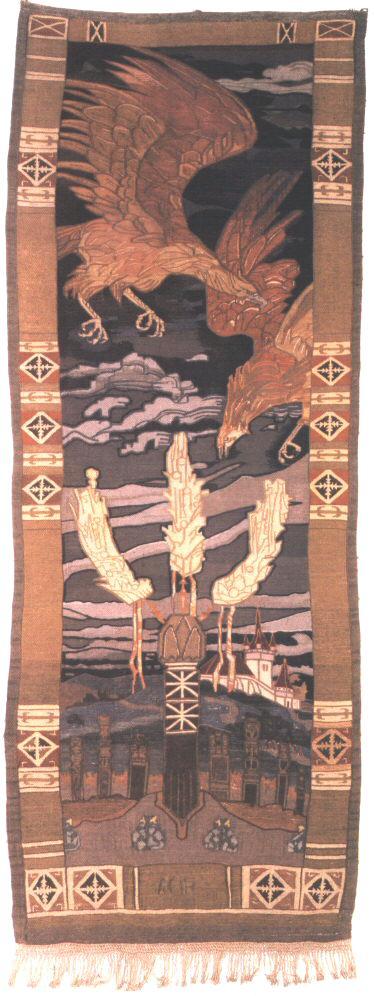 Eagles above the Hero's Grave 1918 | Aladar Kriesch Korosfoi | oil painting