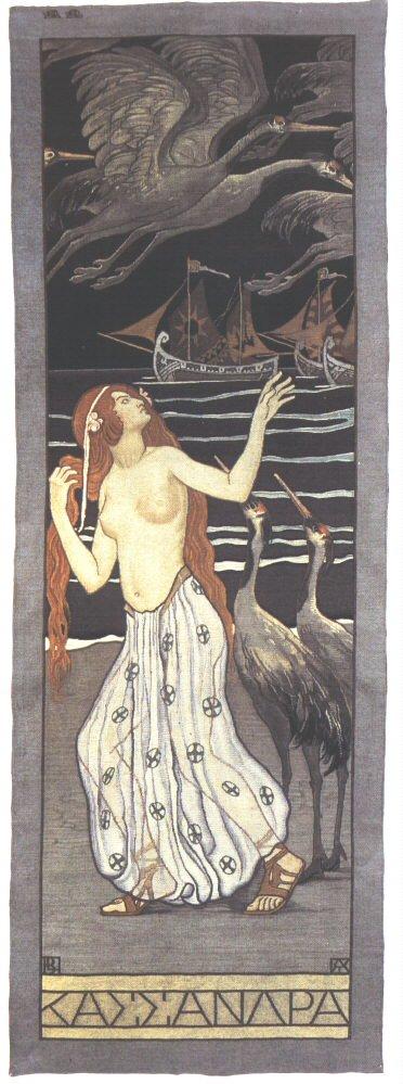 Cassandra 1908 | Aladar Kriesch Korosfoi | oil painting