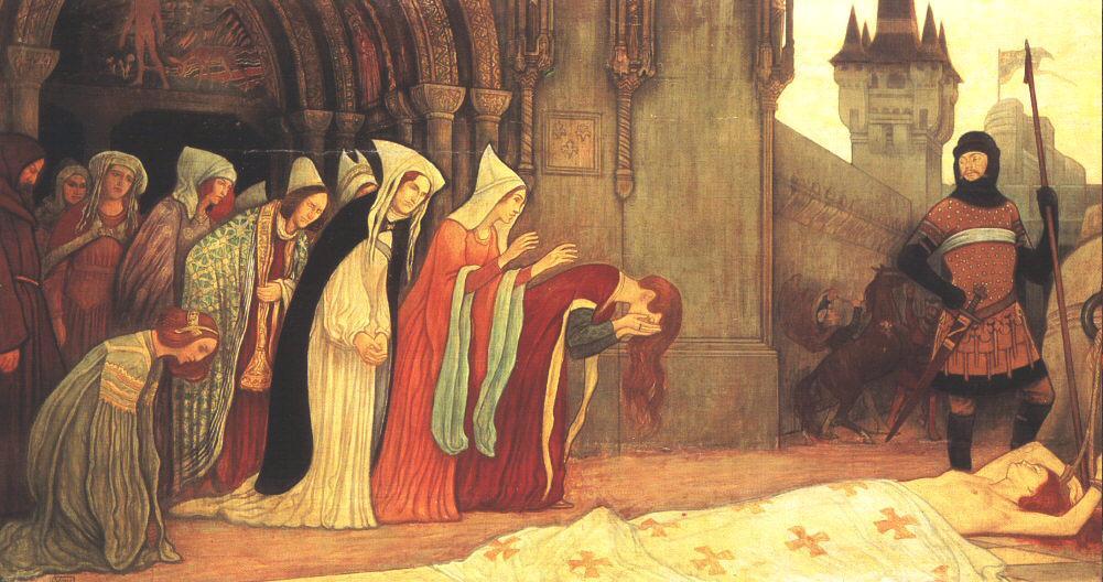 The Story of Klara Zach II 1911 | Aladar Kriesch Korosfoi | oil painting