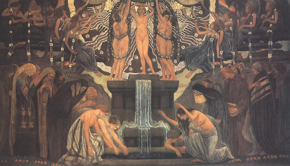 The Fountain of Art 1907 | Aladar Kriesch Korosfoi | oil painting