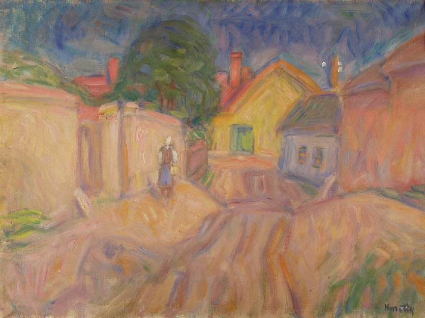 Curved Street at Szentendre 1940s | Janos Kmetty | oil painting