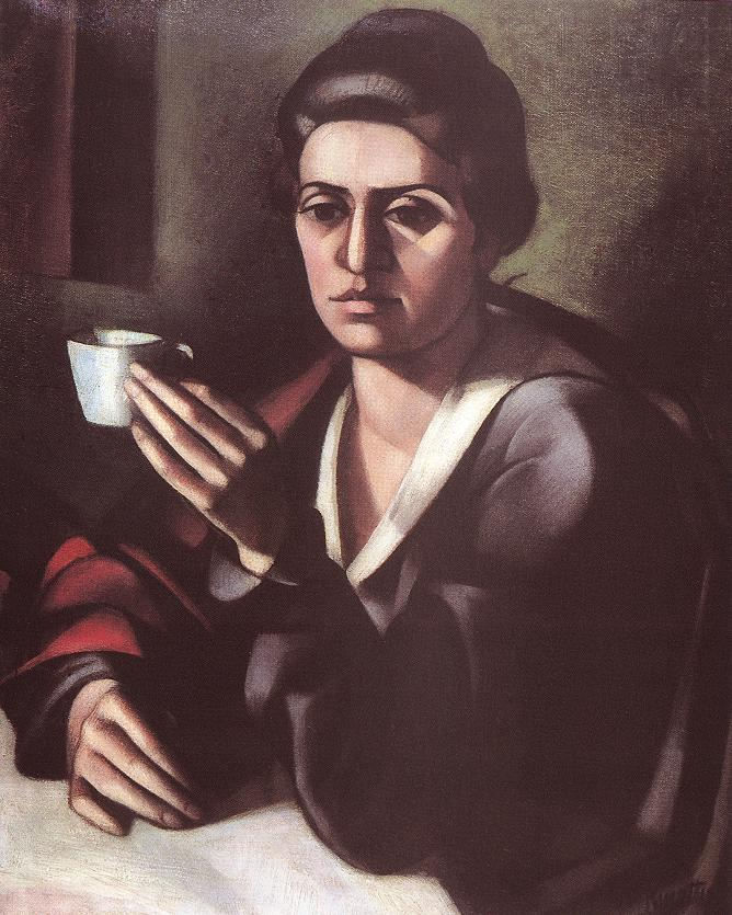 Woman with a Cup 1916 | Janos Kmetty | oil painting