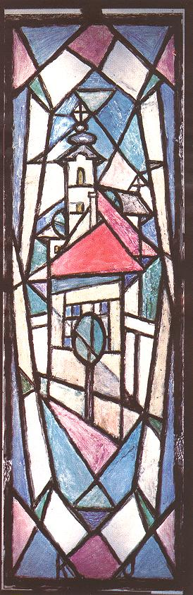 Triple Stained Glass Window I 1972 73 | Janos Kmetty | oil painting