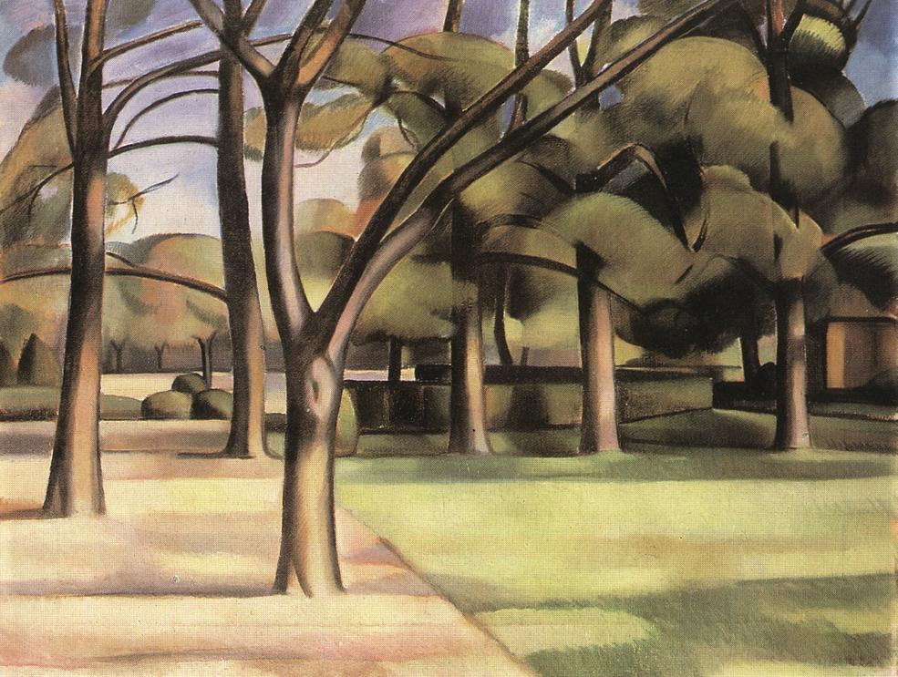 Trees (View of the City Garden) 1911 | Janos Kmetty | oil painting
