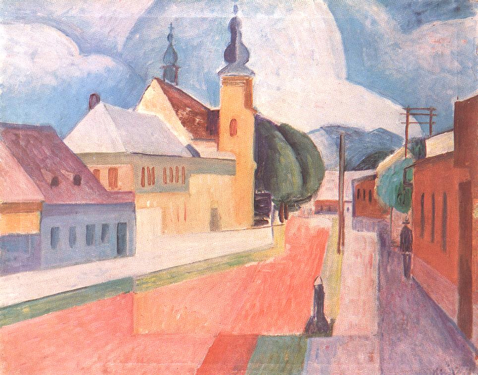 View of Nagybanya 1932 | Janos Kmetty | oil painting