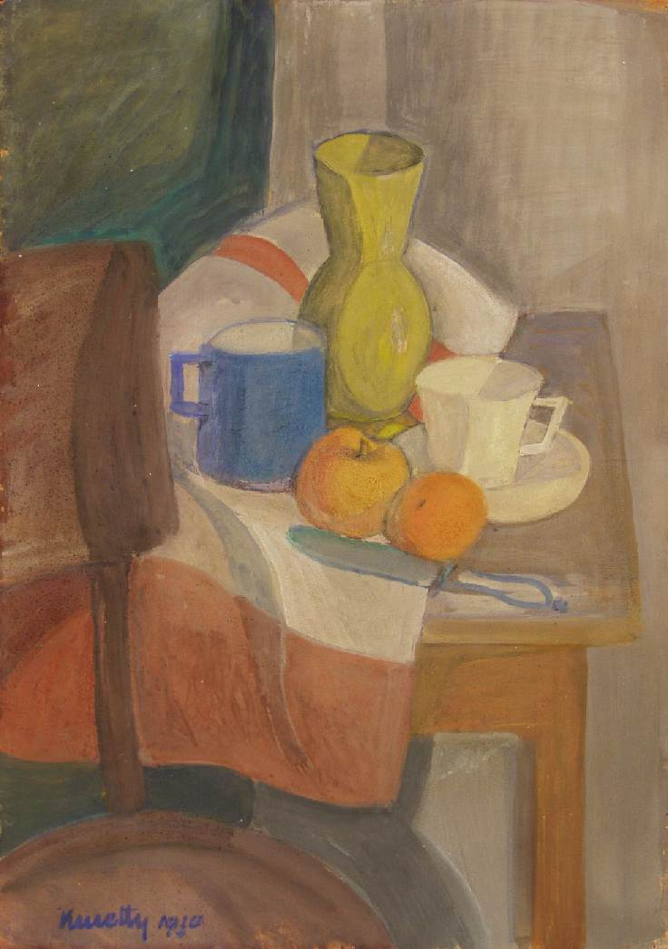 Still life with Yellow Jar 1930 | Janos Kmetty | oil painting