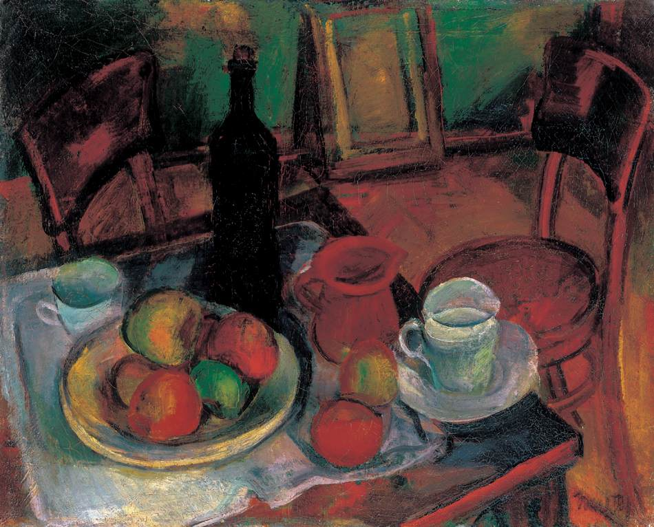 Still life with Table and Chairs | Janos Kmetty | oil painting