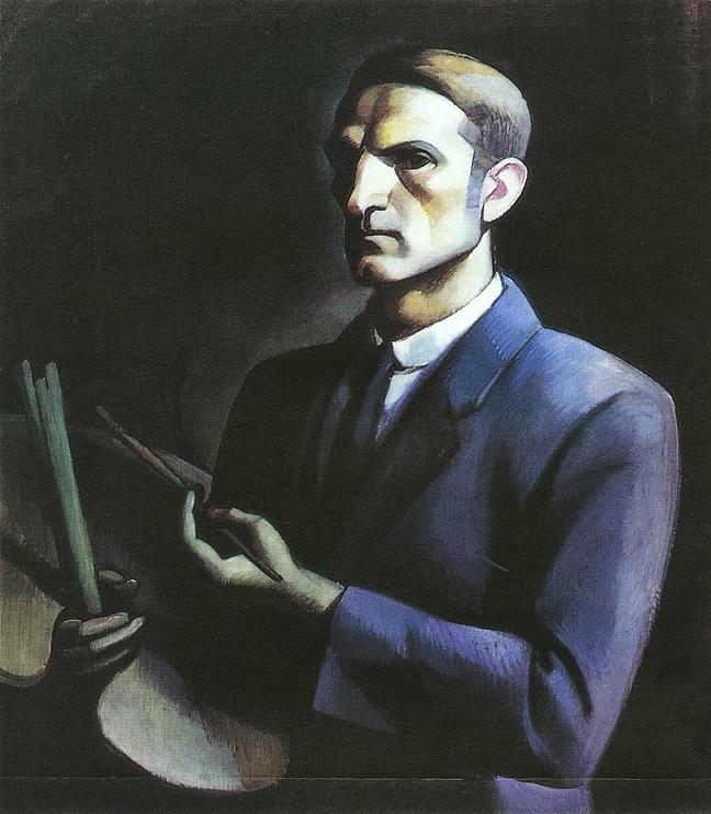 Self portrat with Palette 1912 | Janos Kmetty | oil painting