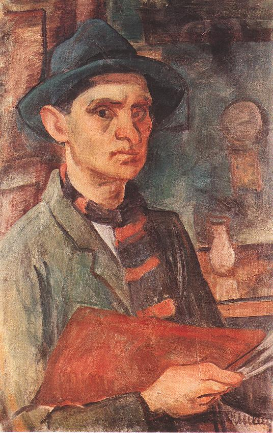 Self portrait 1930 | Janos Kmetty | oil painting
