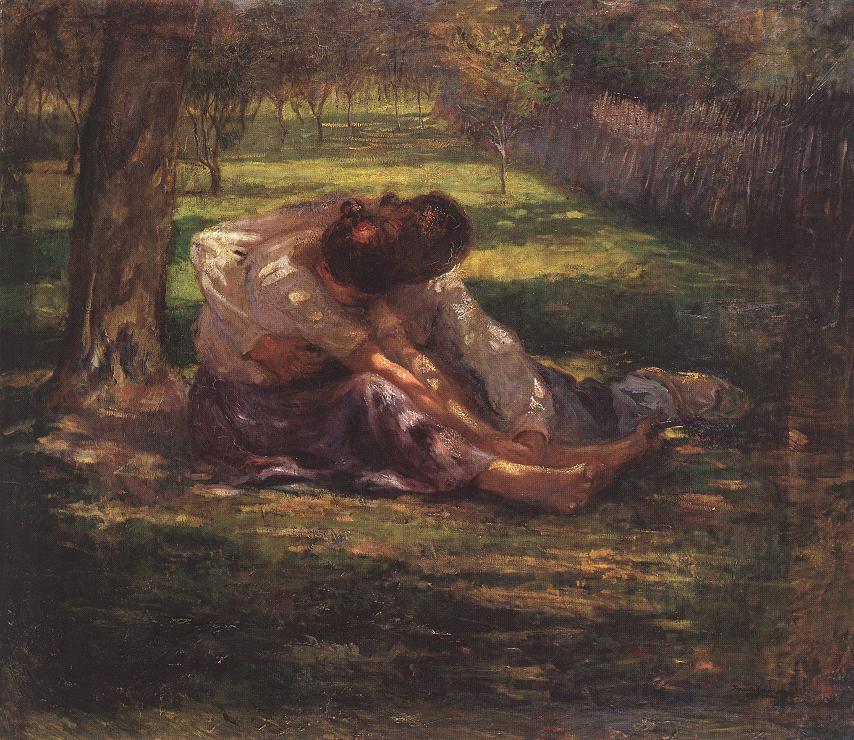 Teasing 1900   Karoly Kernstok   oil painting