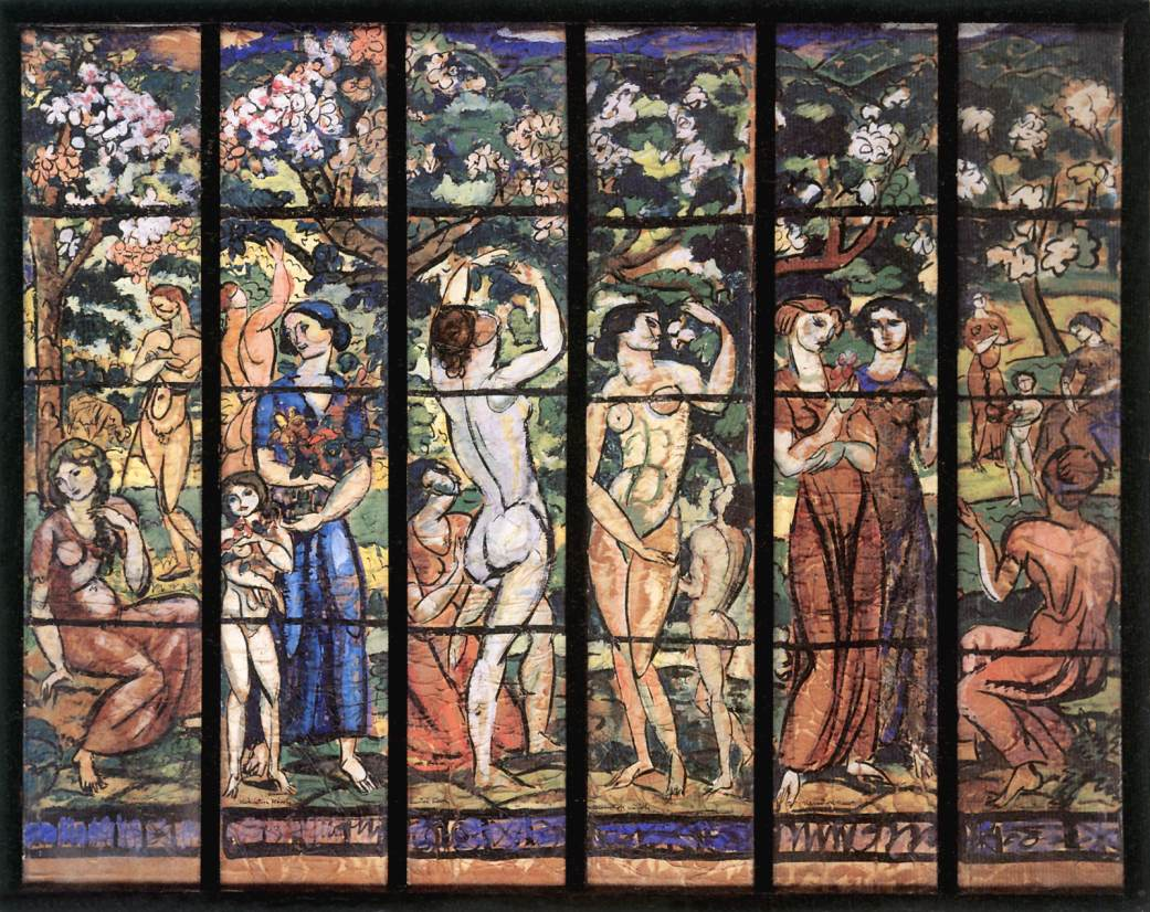 Stained Glass Window Design for the Schiffer Villa 1912 | Karoly Kernstok | oil painting