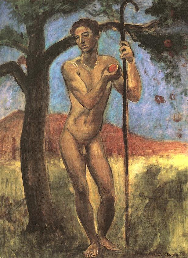 St John the Baptist 1932   Karoly Kernstok   oil painting